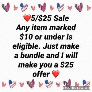 Any item $10 or under is eligible.